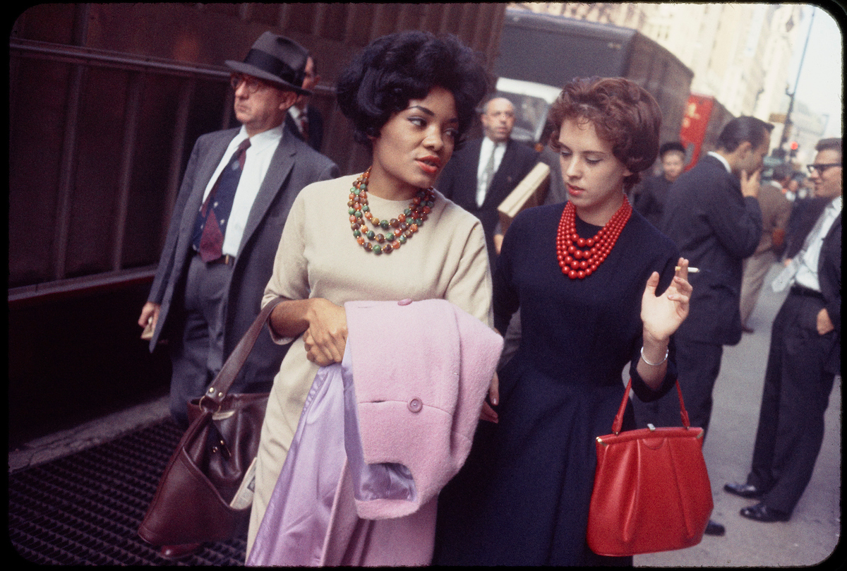 Garry Winogrand (American, 1928-1984). Untitled (New York), circa 1965. 35mm color slide. Collection of the Center for Creative Photography, The University of Arizona. © The Estate of Garry Winogrand, courtesy Fraenkel Gallery, San Francisco