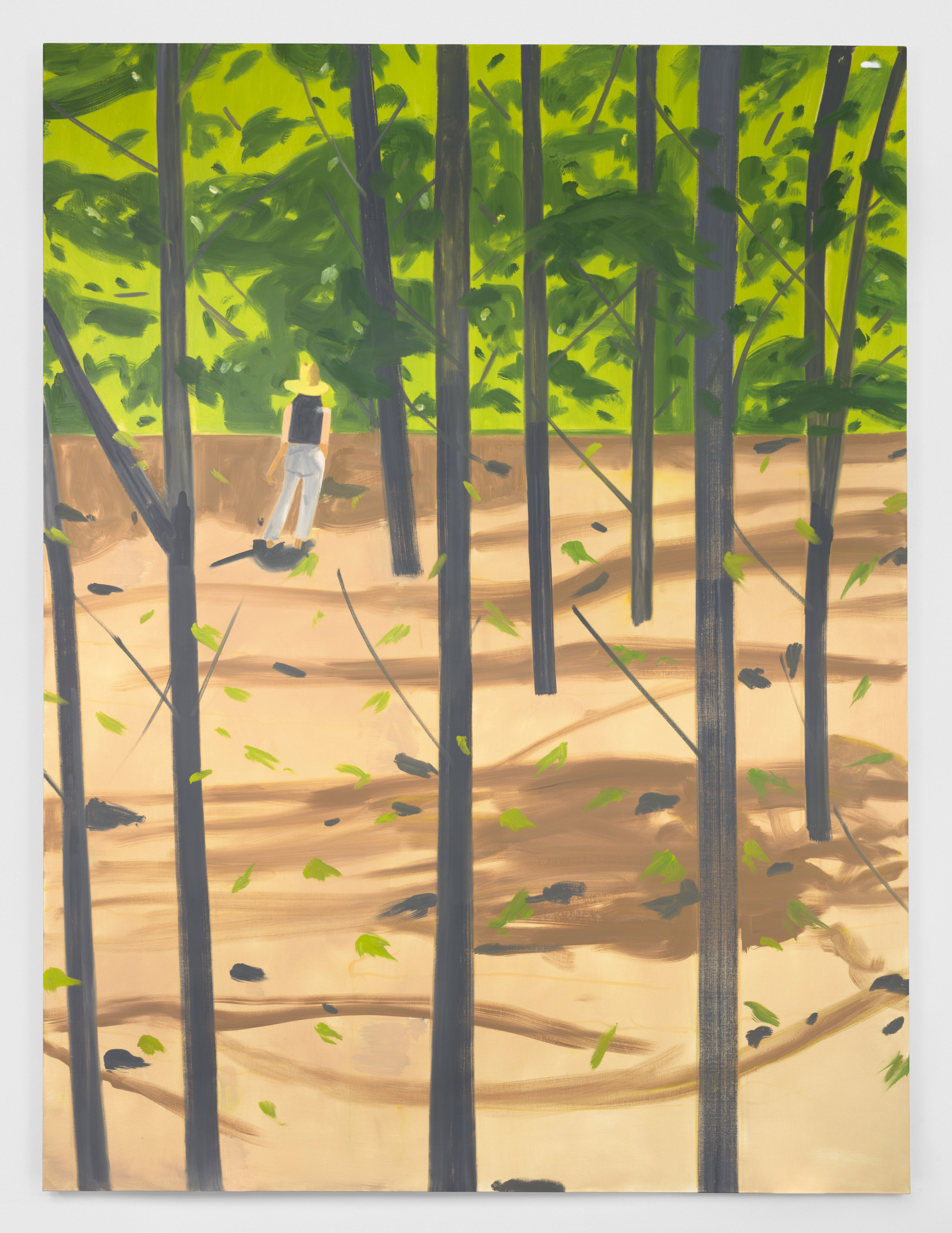 Alex Katz  Figure in the Woods   , 2016  Oil on canvas 365.8 x 264.2 cm © Alex Katz / Adagp, Paris, 2019 Picture: Courtesy Gavin Brown Enterprise New York