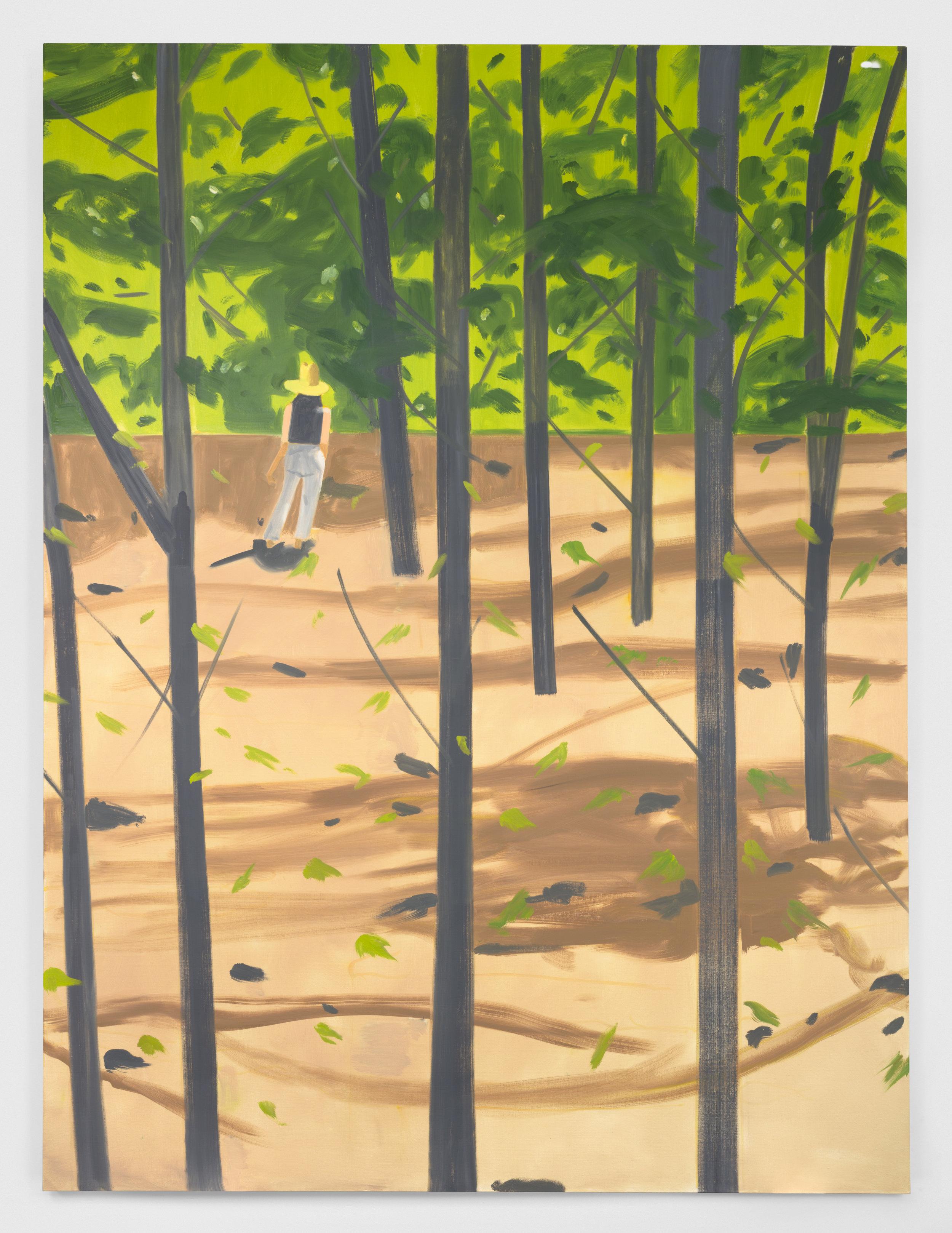 Alex Katz  Figure in the Woods   , 2016  Oil on canvas 365.8 x 264.2 cm © Alex Katz / Adagp, Paris, 2019 Picture: Courtesy Gavin Brown Enterprise New York