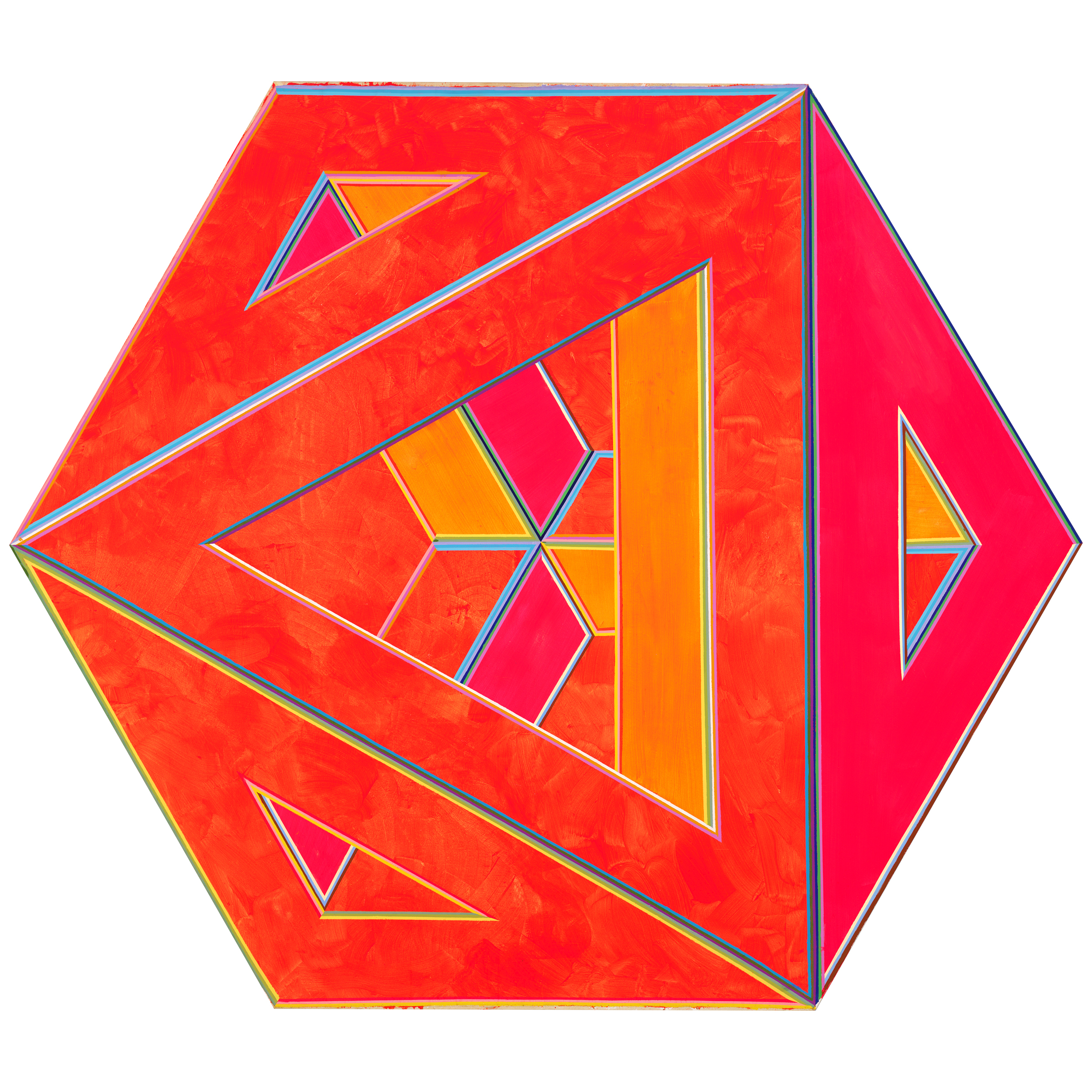 Alvin Loving (1935-2005),  Septehedron 34 , 1970. Acrylic on shaped canvas, 88 5/8 × 102 1/2 in. (225.1 × 260.4 cm). Whitney Museum of American Art, New York; gift of William Zierler, Inc. in honor of John I. H. Baur 74.65. Courtesy the Estate of Al Loving and Garth Greenan Gallery, New York
