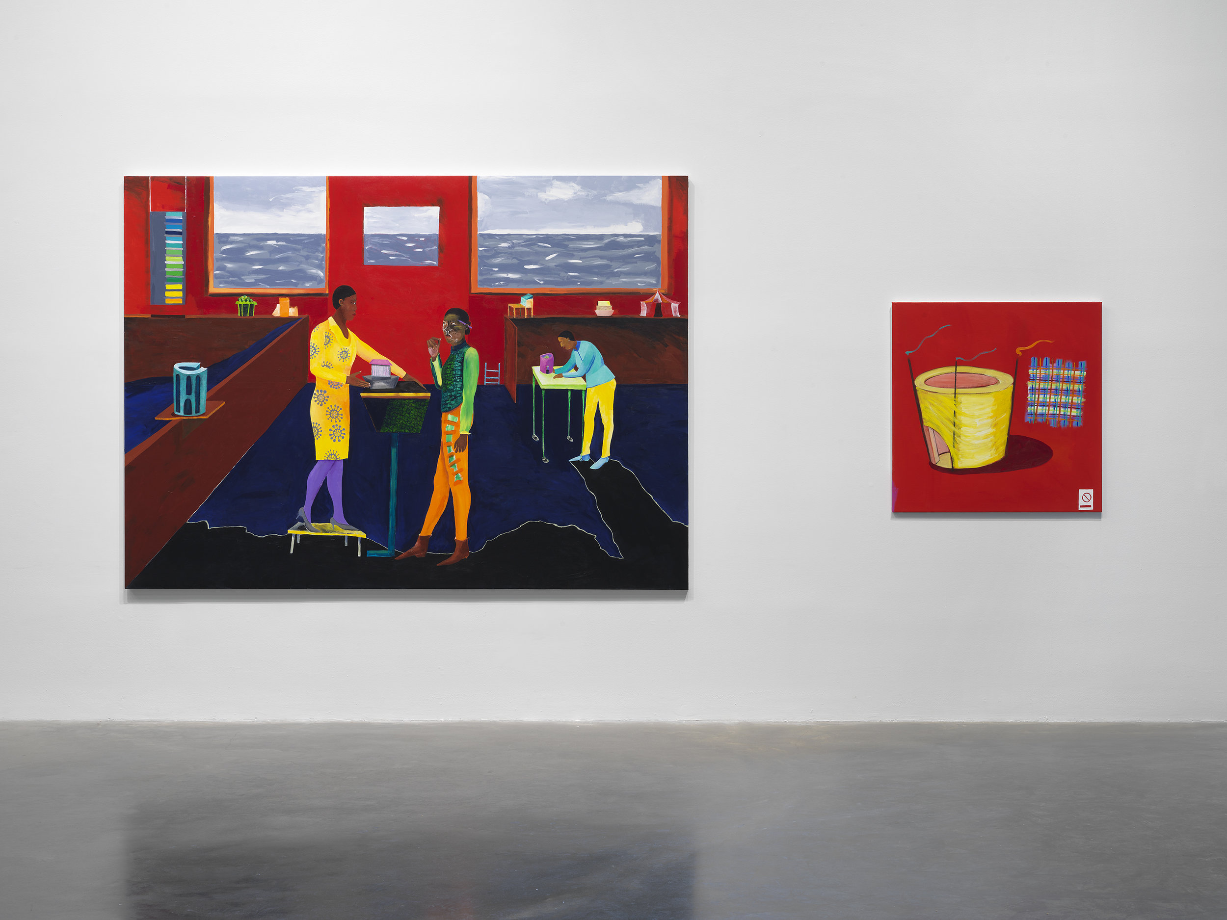 """Lubaina Himid: Work from Underneath,"" 2019. Exhibition view: New Museum, New York. Photo: Dario Lasagni"