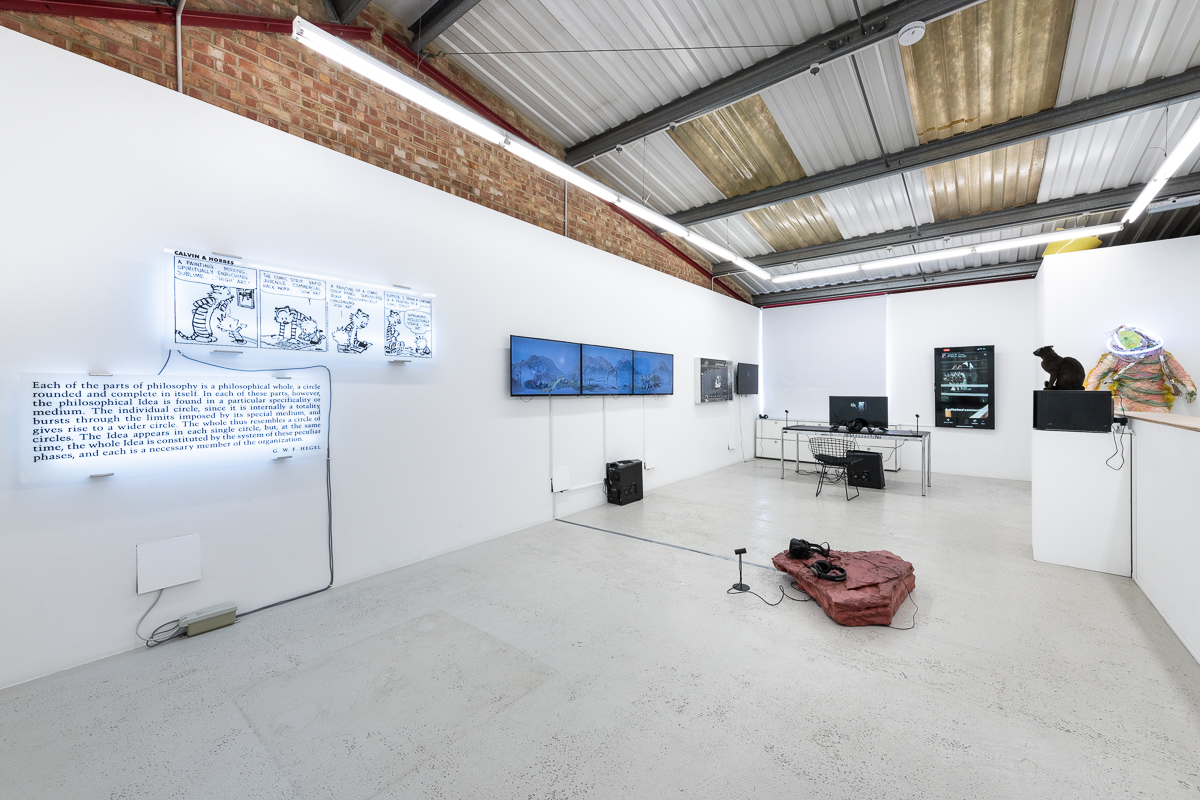 "Installation view ""Quid est veritas"" curated by Anton Svyatsky, Annka Kultys Gallery, London 2019. Courtesy of Annka Kultys Gallery, © The artists"