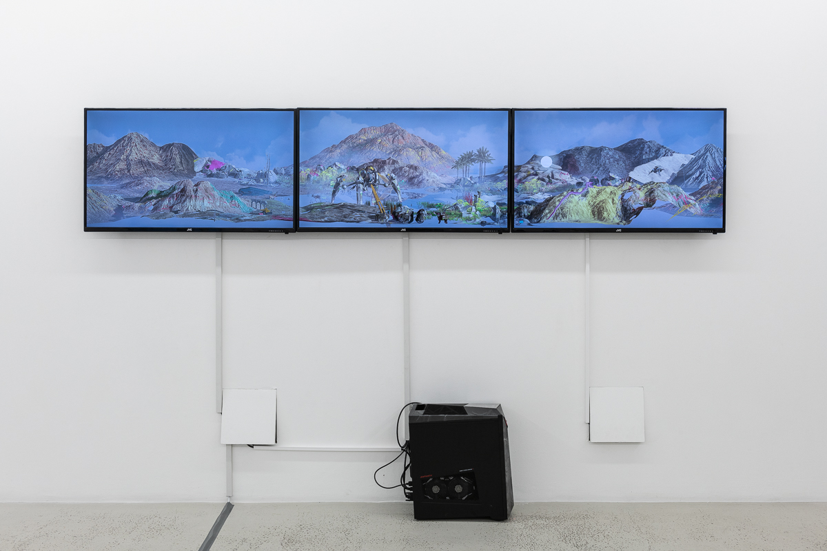 THEO TRIANTAFYLLIDIS Seamless 2017 3-Channel Screen piece, custom software, live stimulation Sound by Diego Navarro Dimensions variable Edition 2 of 3 + 2 AP