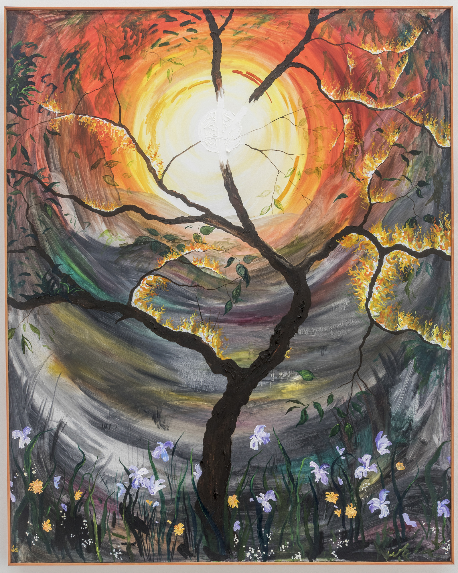 The Sun Hung Low #3  2019 oil on canvas (in artist's frame) 60x48 inches