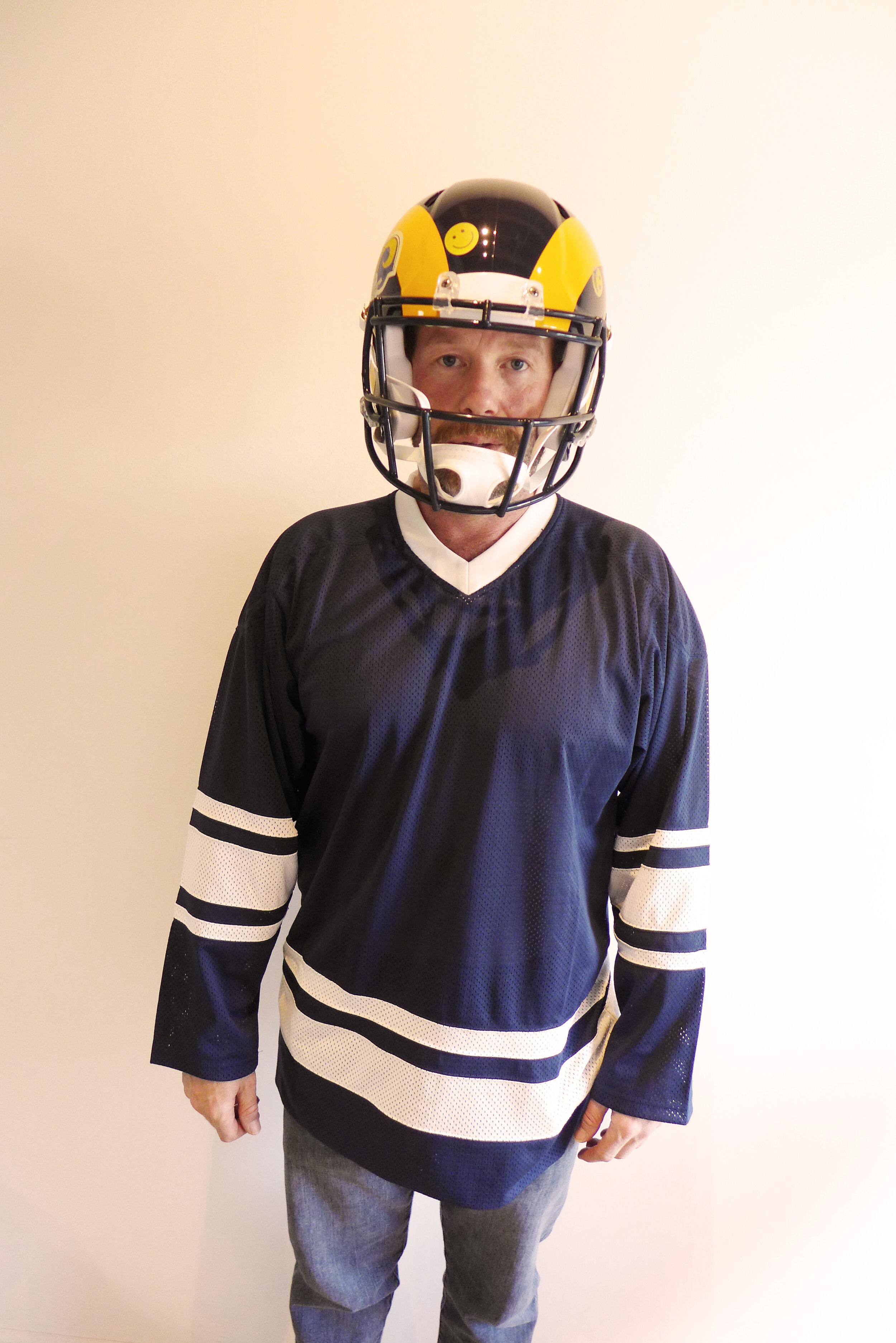 Rams helmet by Sayre Gomez