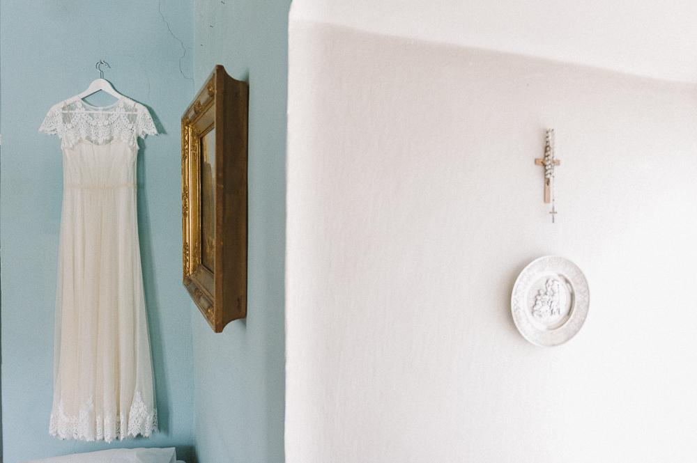 Vintage Hochzeitskleid im Schloss Mühlbach