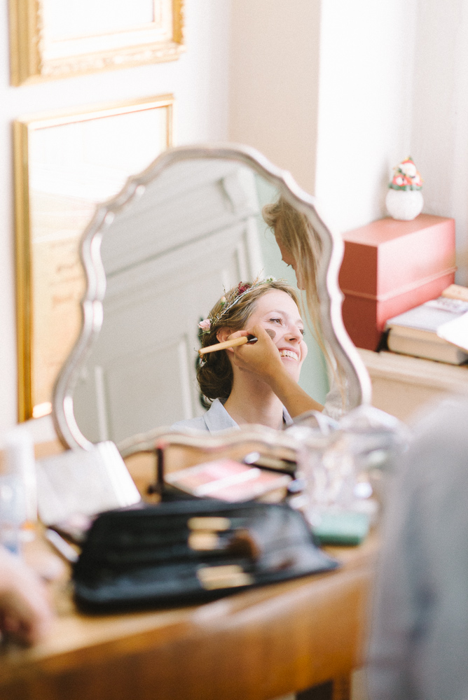 natürliches make up zu Hochzeit