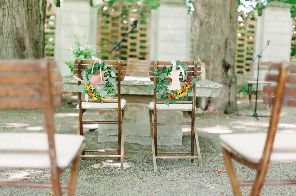 Garden Wedding in a castle in Austria