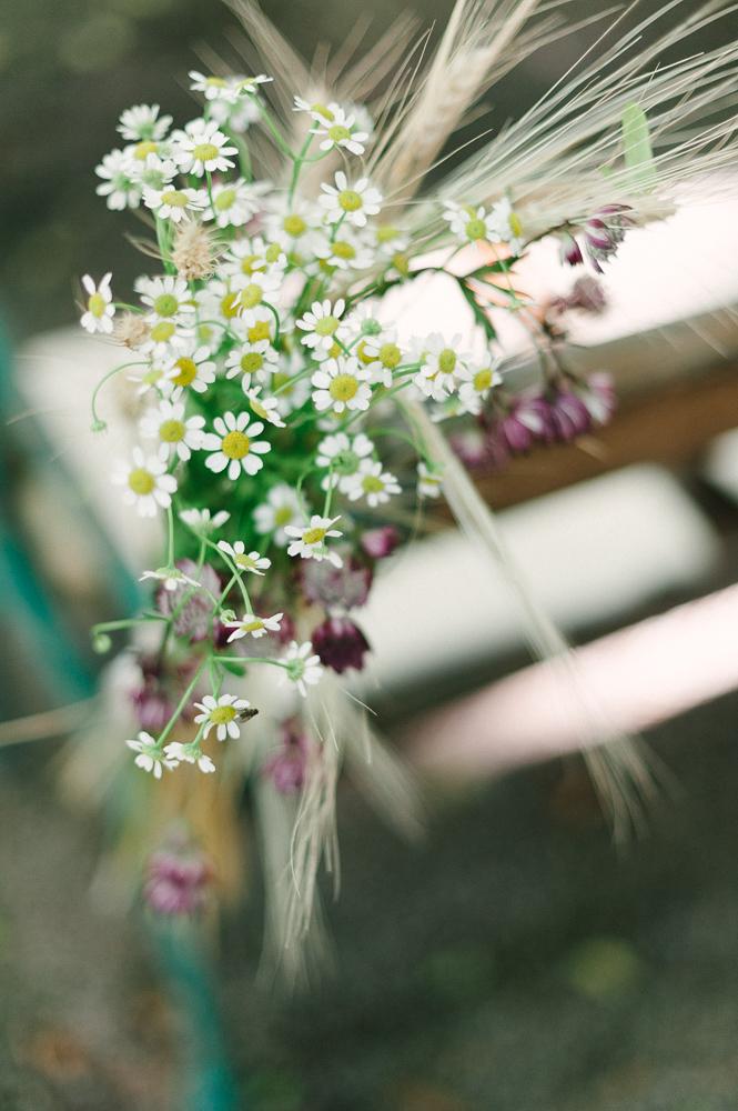 Gänseblümchen als Hochzeitsdeko