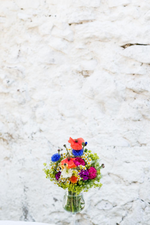 Mohnblumen Brautstrauß
