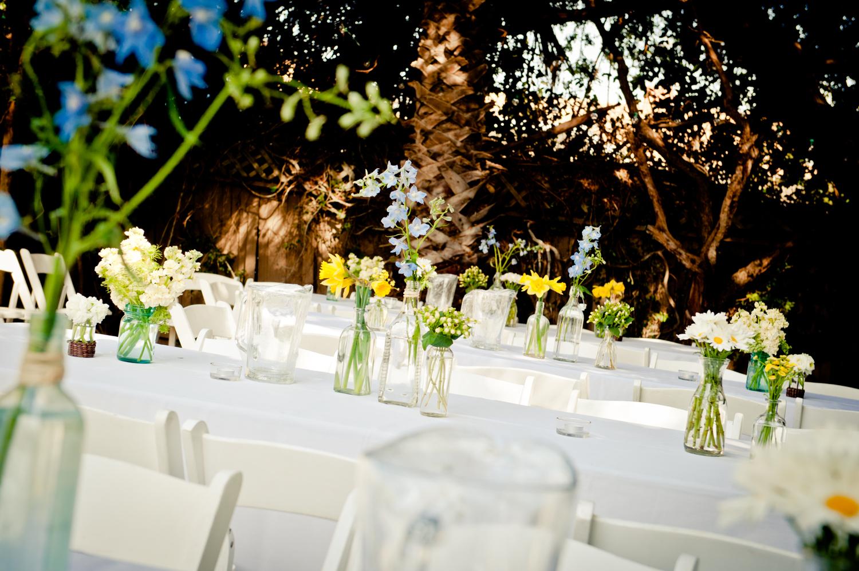 Wiesenblumen Hochzeitsdekoration