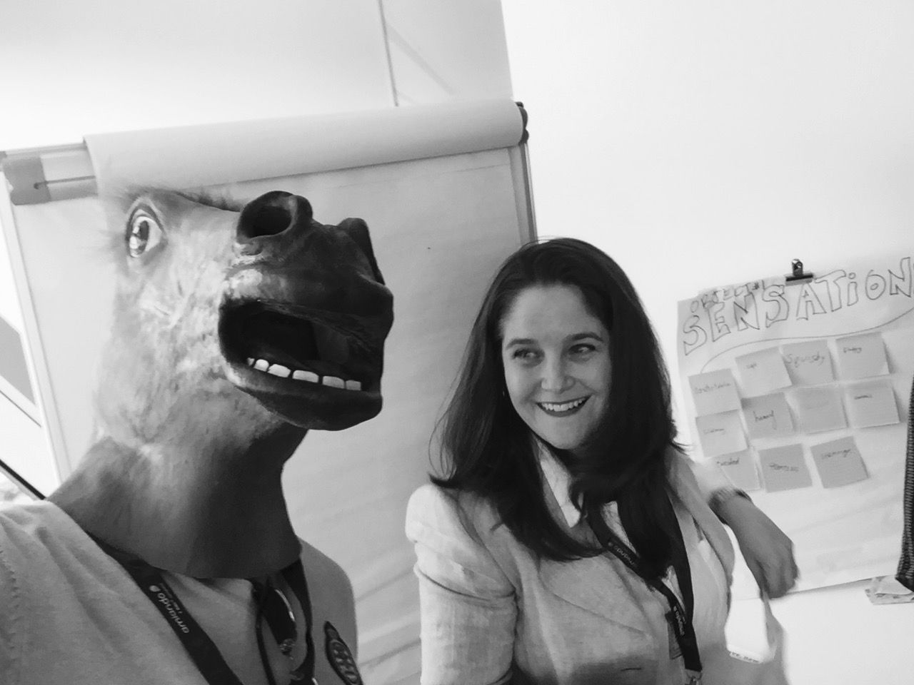 Horsing around during an IdeaKeg interaction at Intraopreneurship Conference 5th Edition, London.