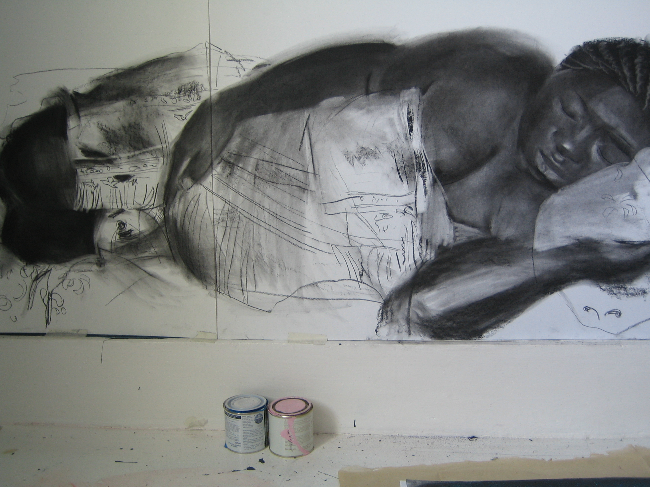 Constance, 2011 charcoal on paper 100 x 80 cm