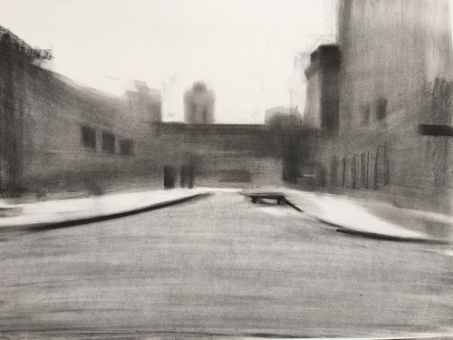 Wallis Rd, 2016 Charcoal on A2 paper