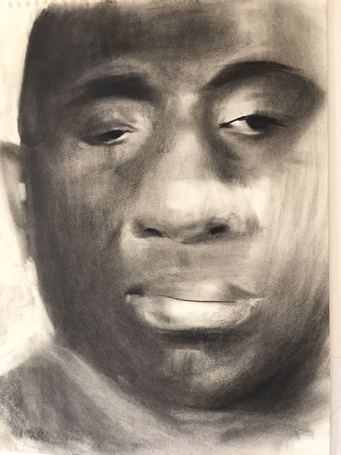 Cedric, 2017 charcoal on paper A3