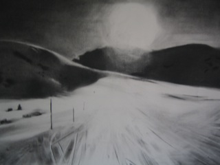 Sun, 2010 charcoal on A3 paper