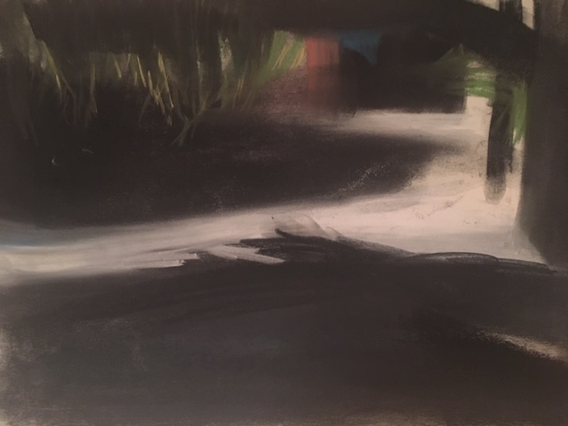 Shade, 2018 pastel on A3 paper