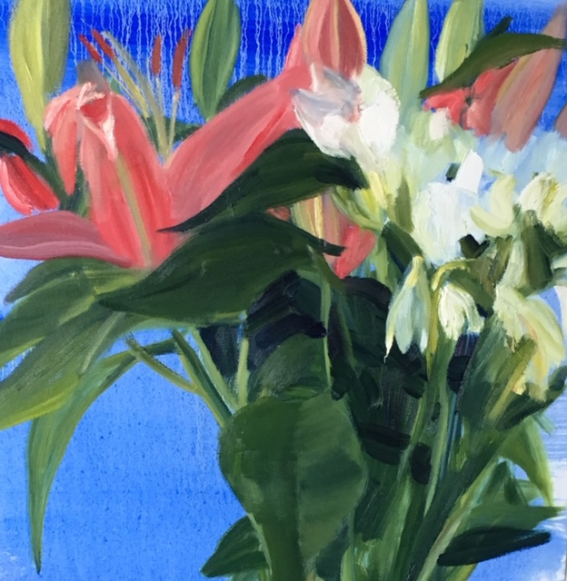 Flowers 2018 75 x 61 cms oil on canvas