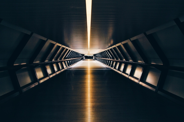 Picture of light at the end of a tunnel
