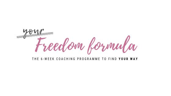logo for group life coaching programme 'your freedom formula'