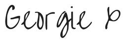 Signature of life coach Georgie muir