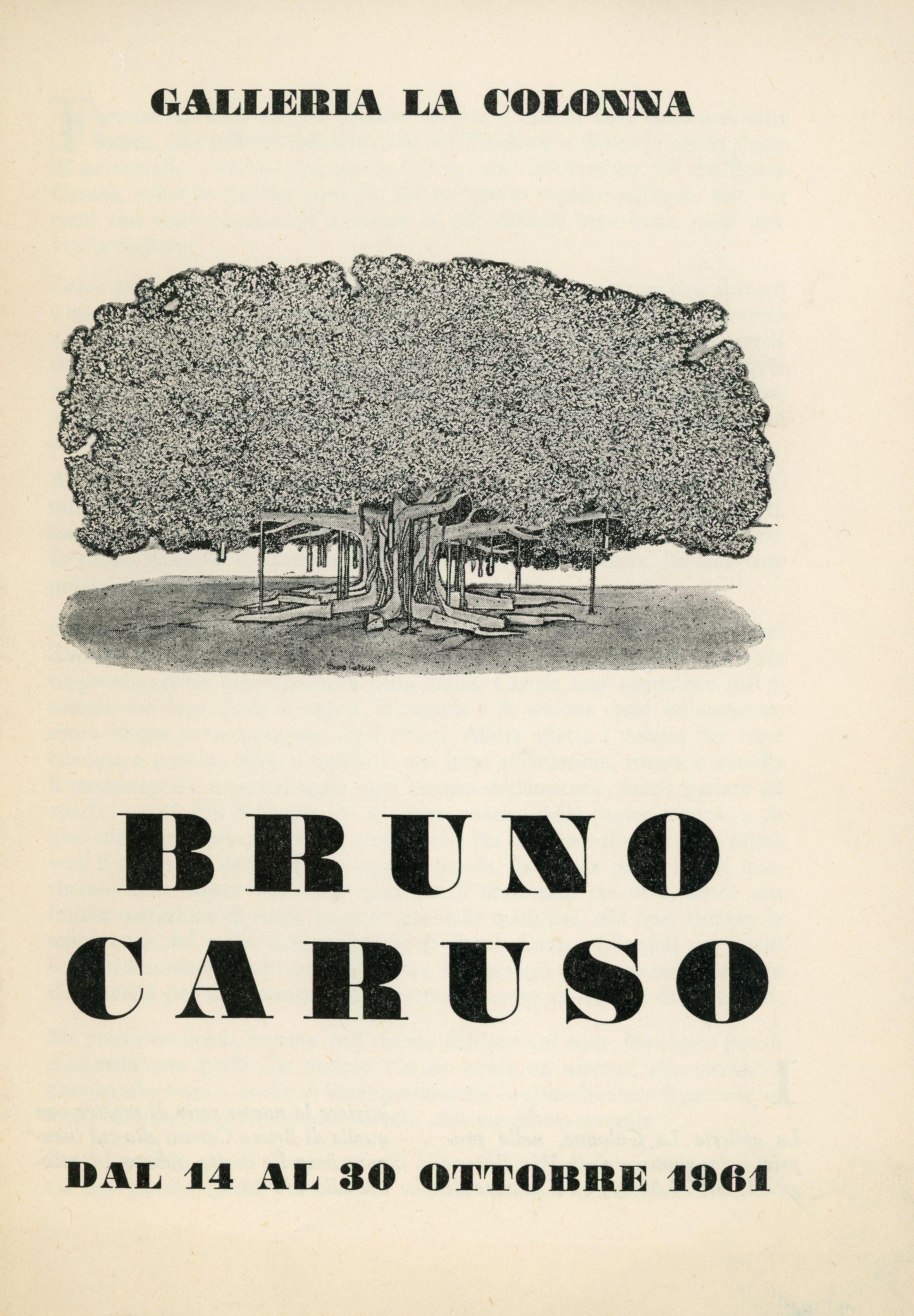 1961,  Milan , Galleria la Colonna: Bruno Caruso