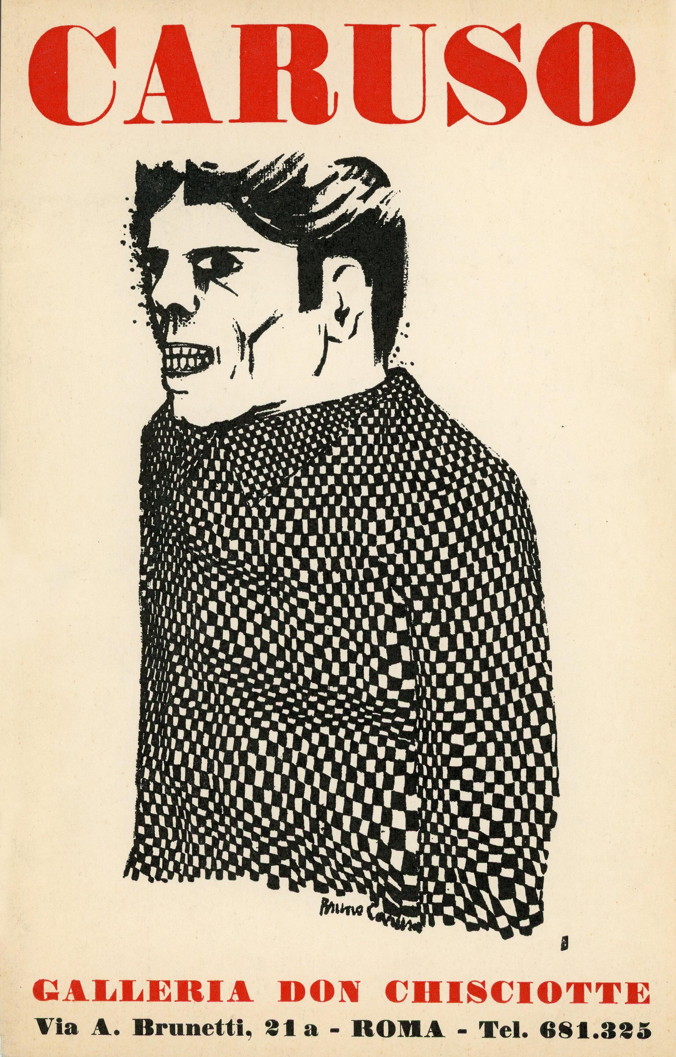 1963,  Rome , Galleria Don Chiscotte: Bruno Caruso