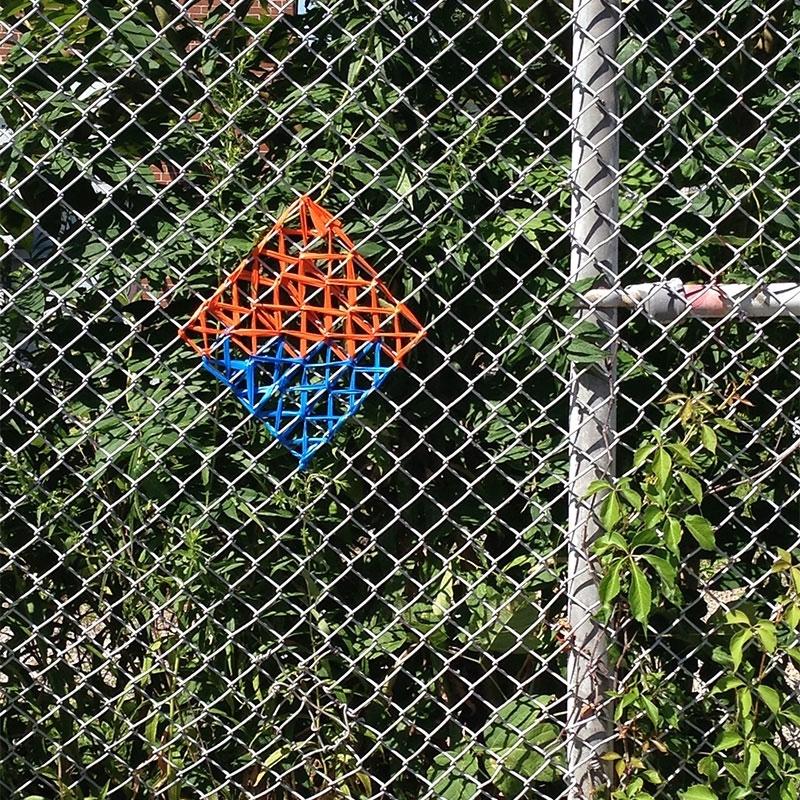 Square: Orange & Blue