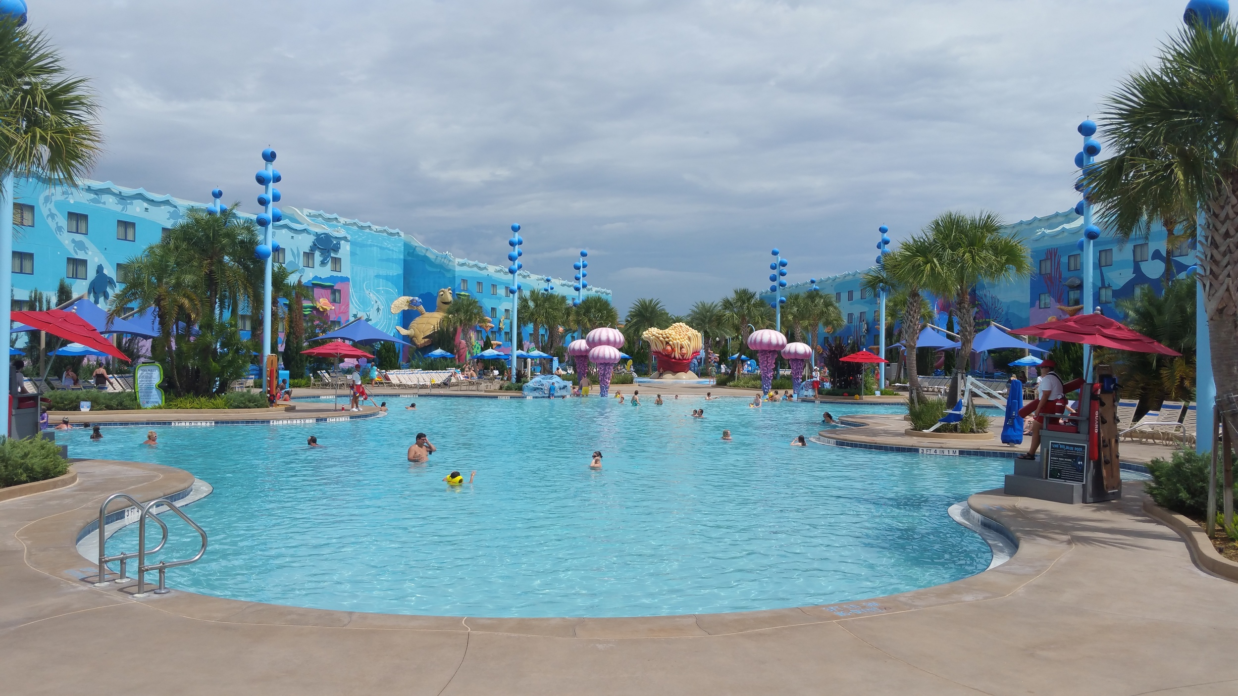 "The ""Finding Nemo"" pool is the main pool for the hotel. It is Disney Worlds largest hotel pool!"