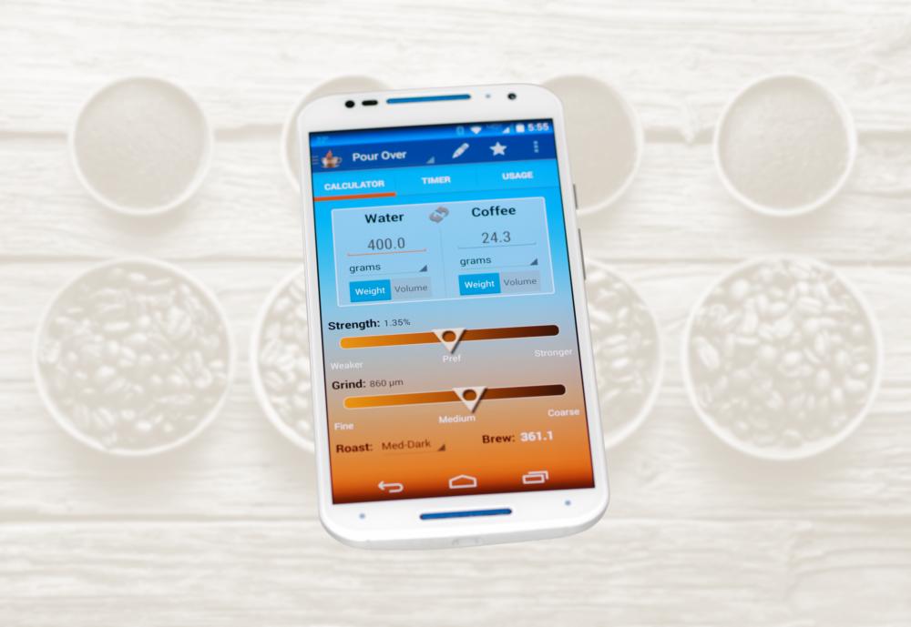 Coffee Calculator determinsthe ideal Brew Ratio