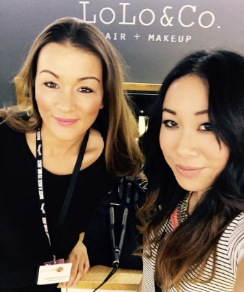 Myself and the lovely Nadine were on hand mattifying the presenters and guests under the strong lighting as well as checking hair was camera ready also.