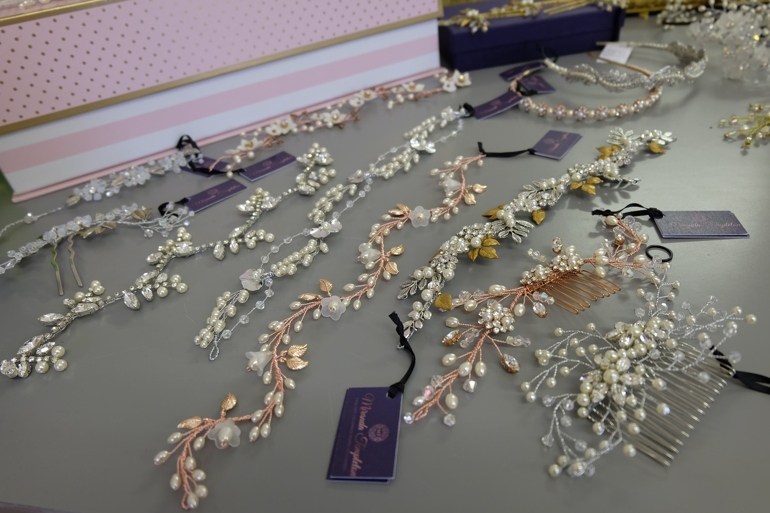 Some of the beautifully hand crafted pieces.