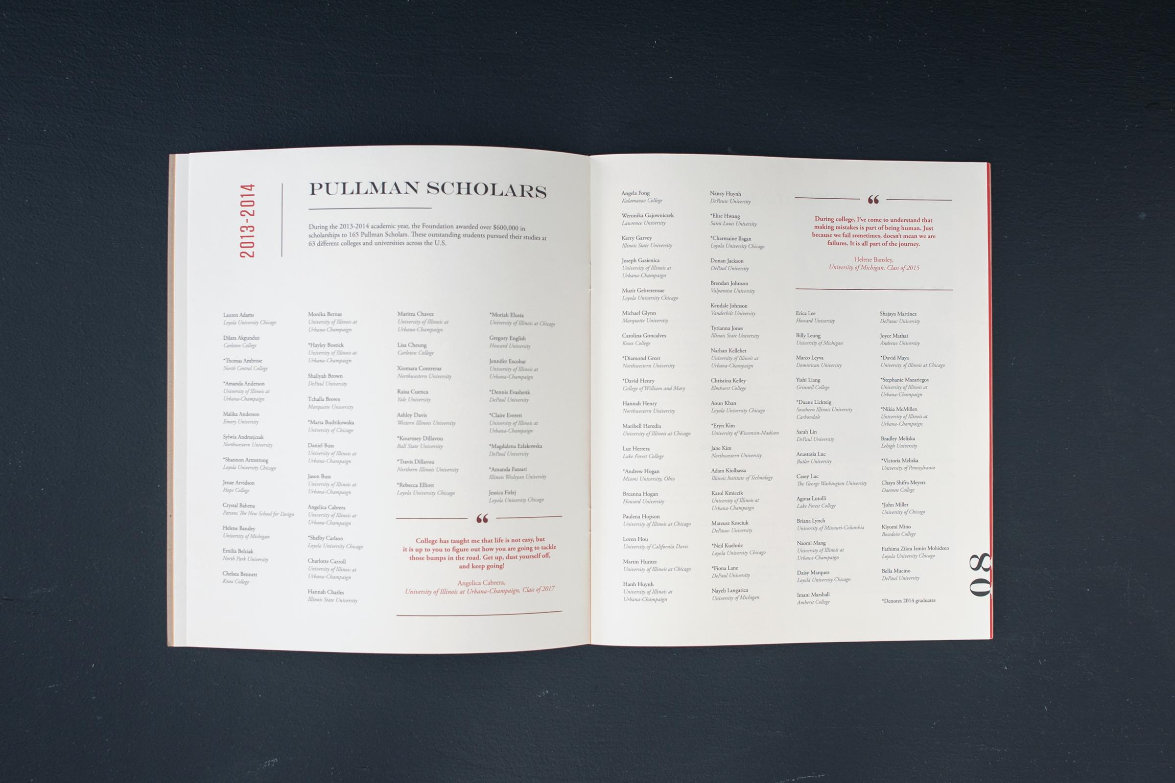 2014 Pullman Foundation Annual Report