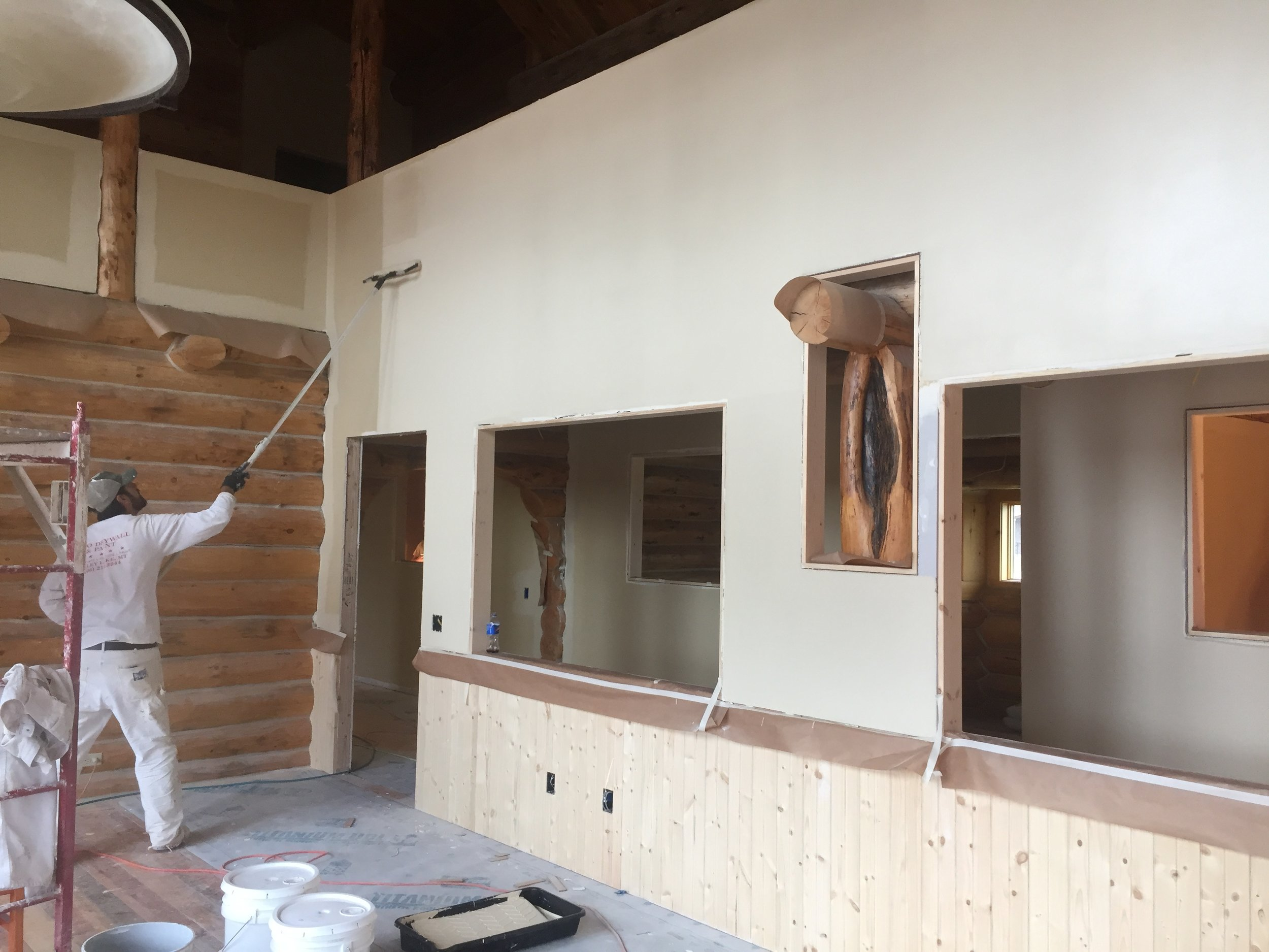 The home stretch - May: Walls are getting painted, trim is being meticulously cut, and a new home is in sight. Come visit us Saturday June 15th for the grand opening of the new Seeley Lake Community Foundation building!