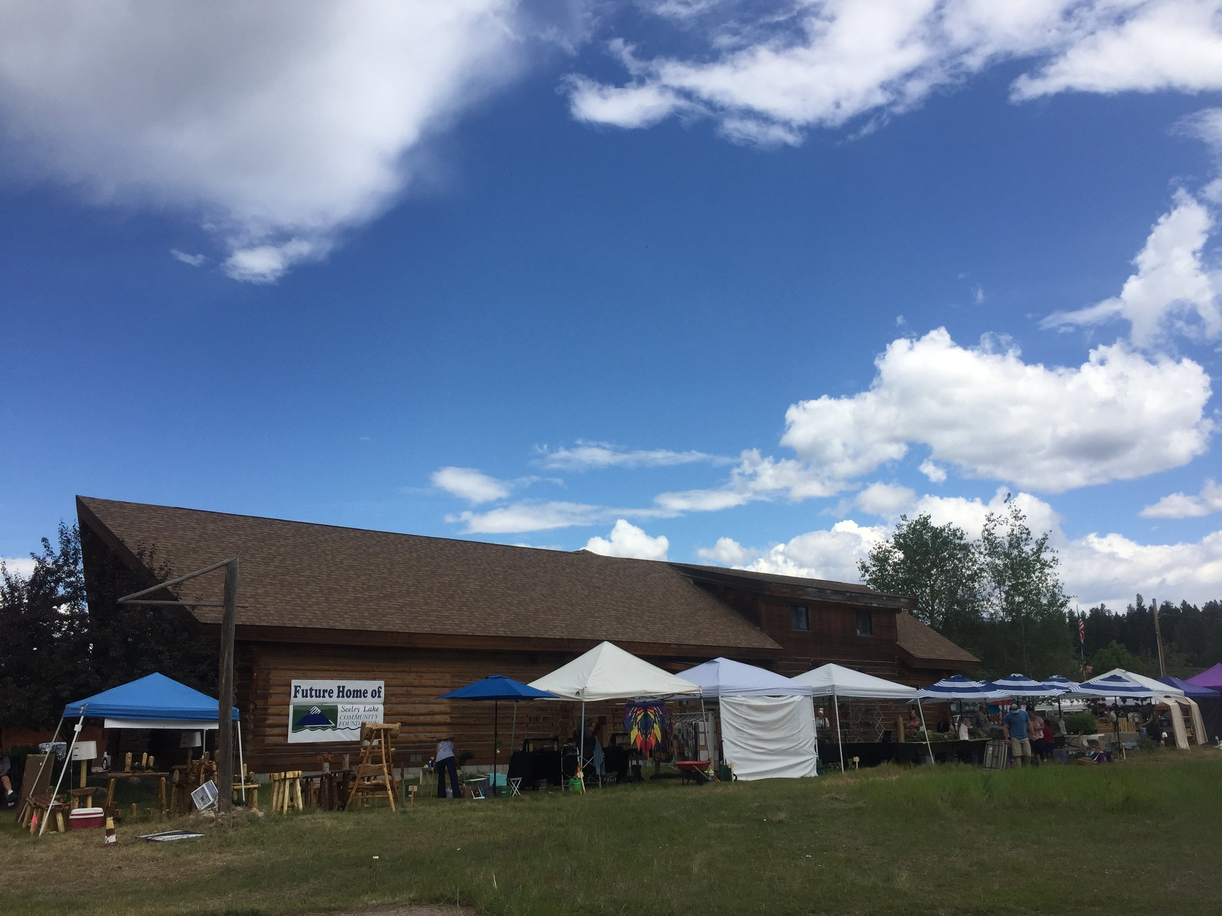 we're excited about the new location, at the new seeley Lake community foundation building!