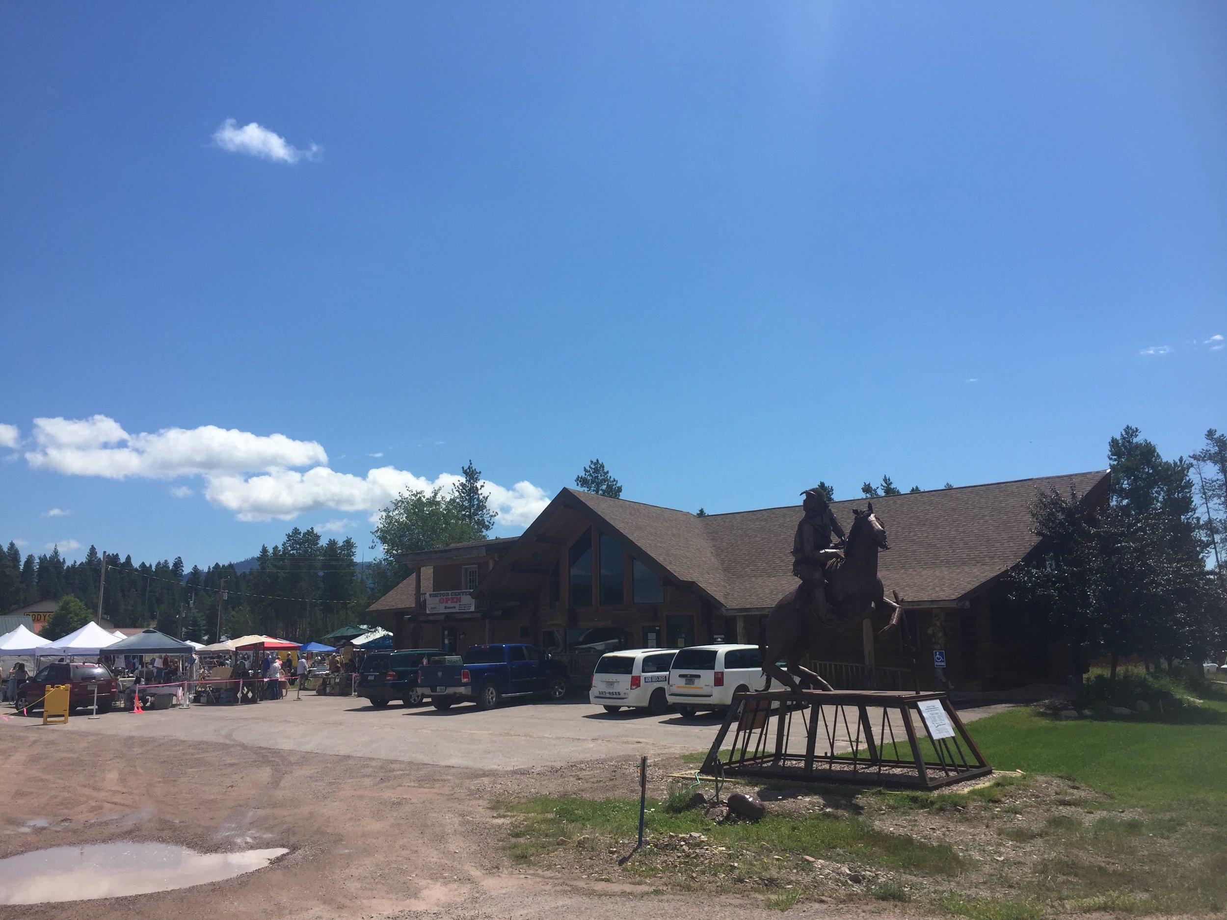 Busy summertime! - Have you seen the beautiful donated statue? Have you checked out the Sunday Market? Our I Ride vans are out serving the community…and that's just what's going on outside!
