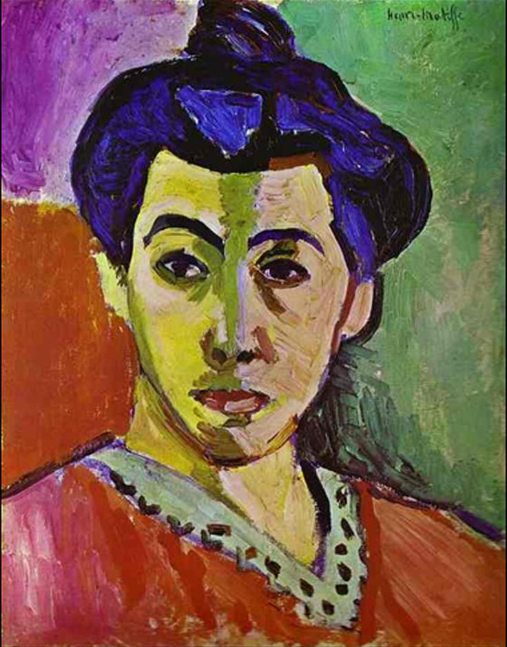 Henri Matisse     Portrait of Madame Matisse  (Green Stripe)