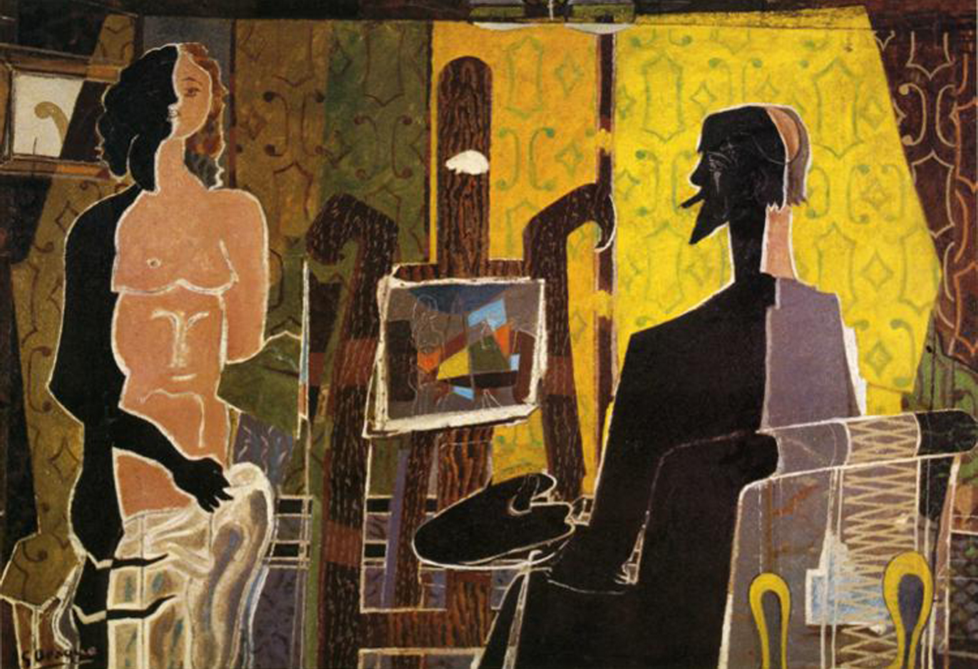Georges Braque    The Painter and His Model
