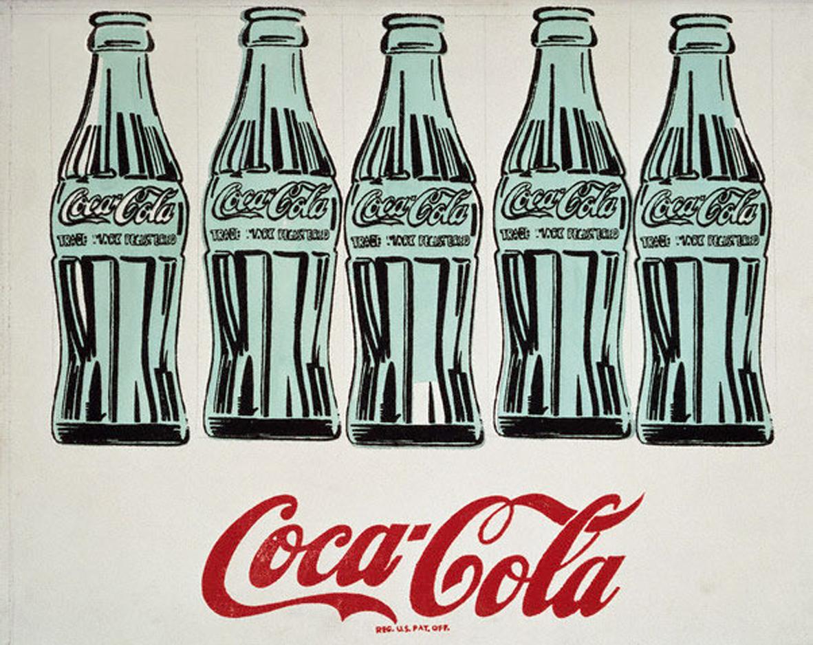Andy Warhol   5 Coke Bottles