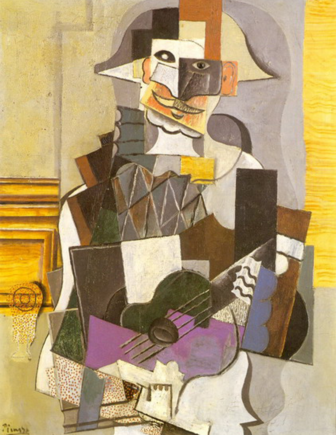 1914    Harlequin with Guitar