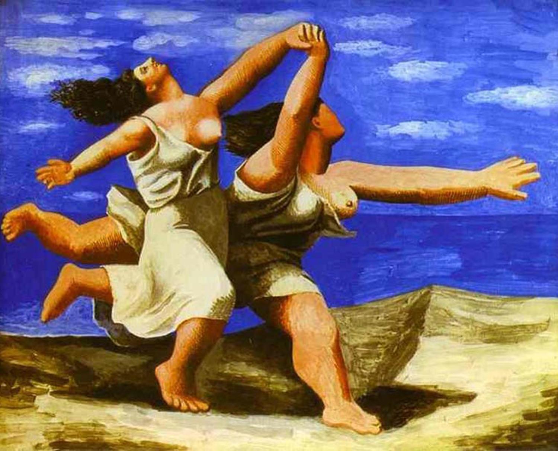 1922    Women Running on the Beach