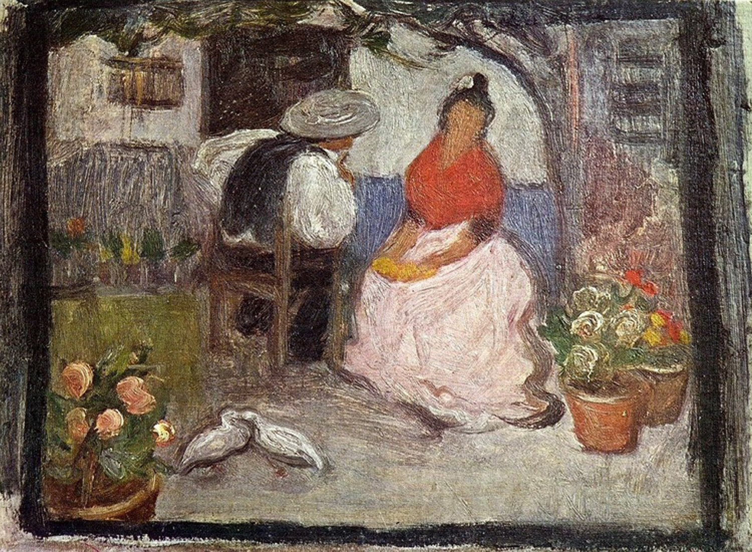 1899   Couple in an Andalusian Patio