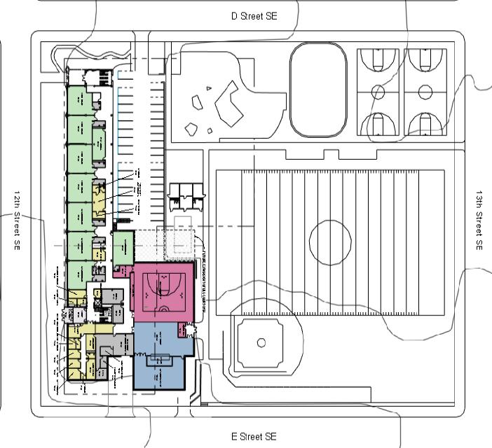 Draft Watkins modernization master plan site layout