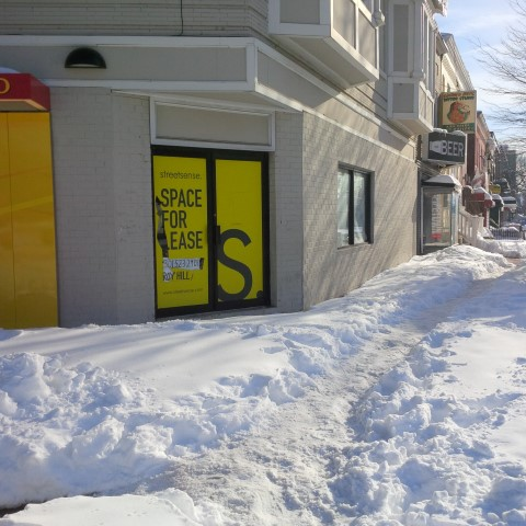 An important corner at 14th and Penn SE, that sites largely unshoveled.