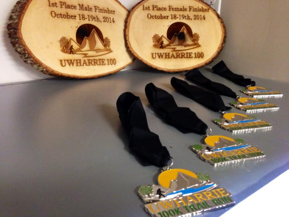100K Finisher Medal along with 2014 Top 3 Finishers Award