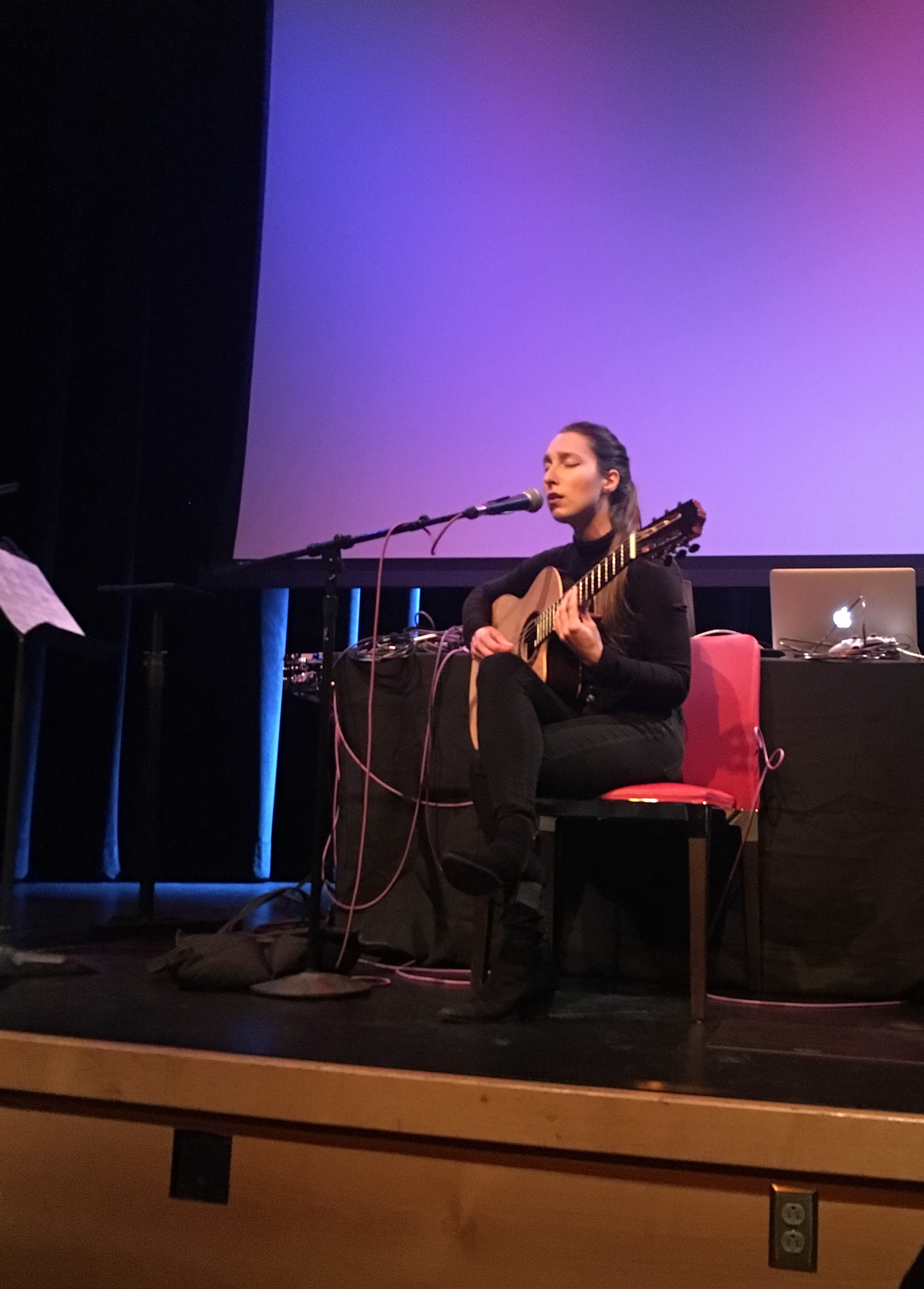 Guitarist Eliza Carrington performs her composition  Drowning