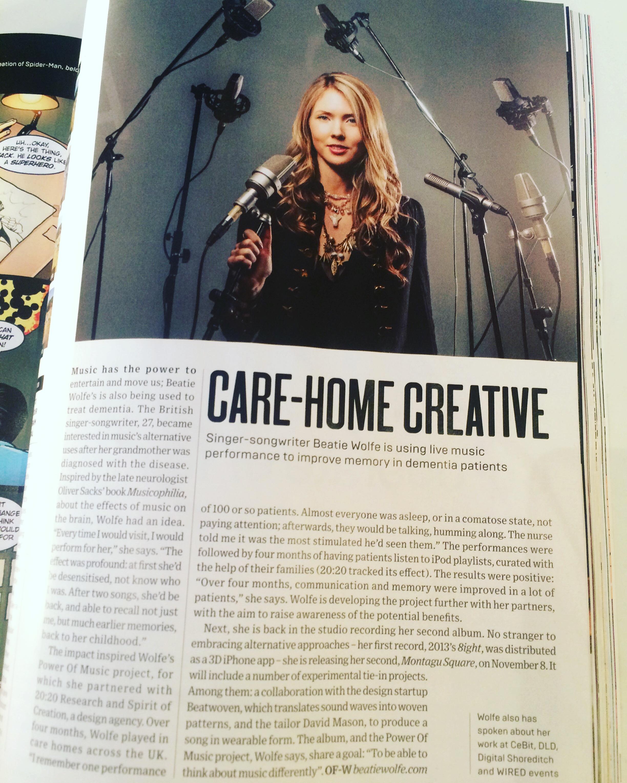 Beatie Wolfe in Wired Magazine