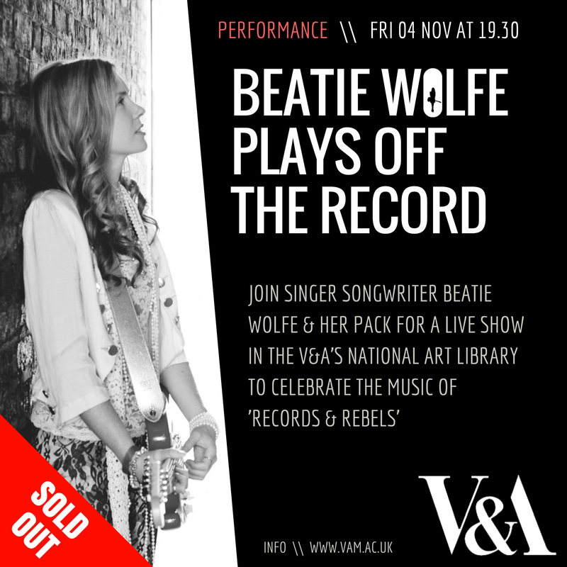 Beatie Wolfe at the V&A old Out