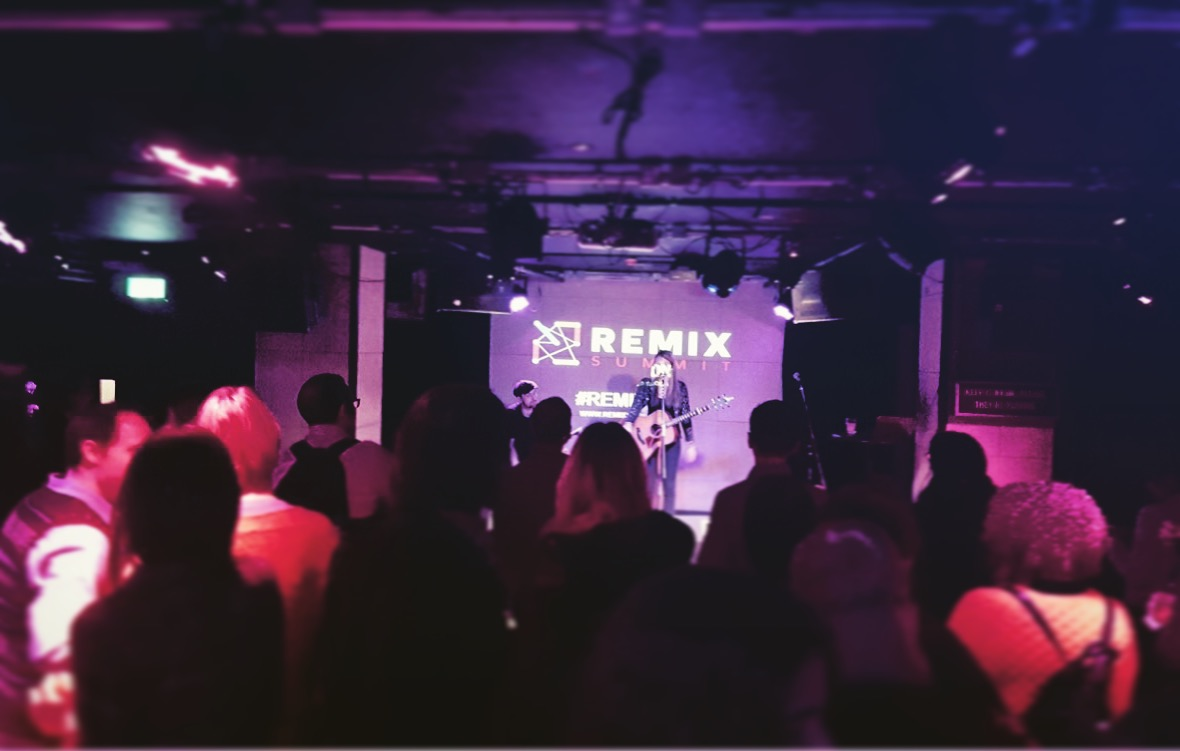 Beatie Wolfe plays live at the Ace Hotel, Shoreditch for Remix Summit London 2017
