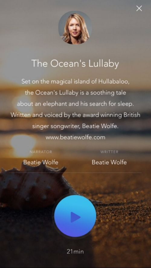 The Ocean's Lullaby by Beatie Wolfe